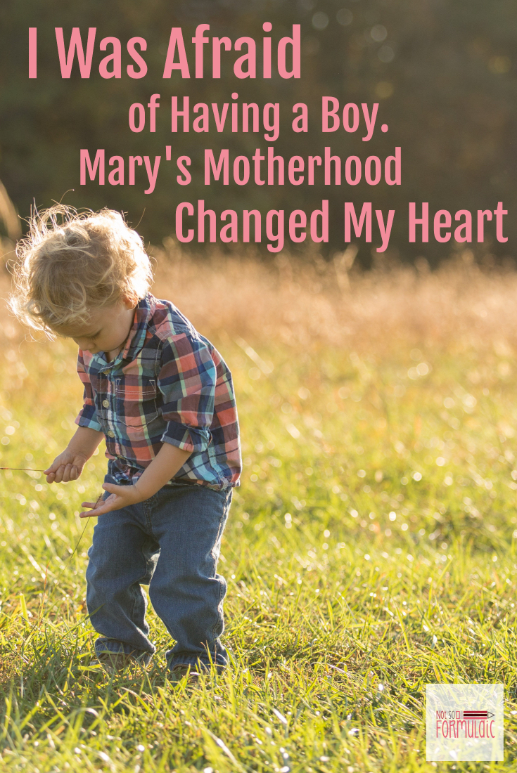 I was terrified of having a boy. The idea was totally outside my control. But as in all things, God knew what he was doing. He used Mary's motherhood and my transition to boy mom to help bring me closer to his son.