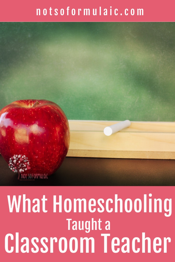 Classroom teachers can learn a lot from homeschooling. I know, because I used to teach high school. These are the five things I learned as a classroom teacher turned homeschooling mom.