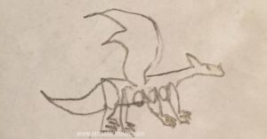 A dragon wordimal - doodles that make meaning
