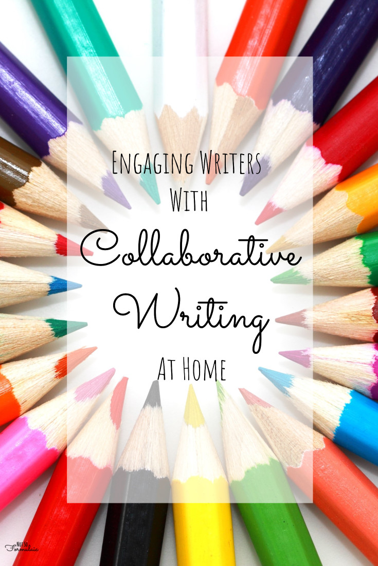 Collaborative writing is a fun way to engage young writers at home.