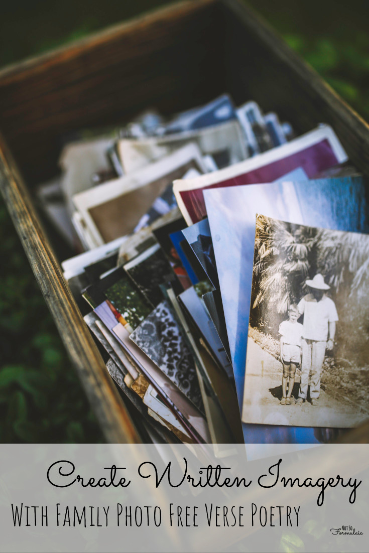 Create concrete details and imagery with family photo free verse poetry