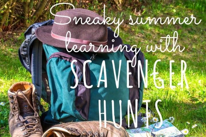Get your kiddos reading, writing, thinking and playing with scavenger hunts