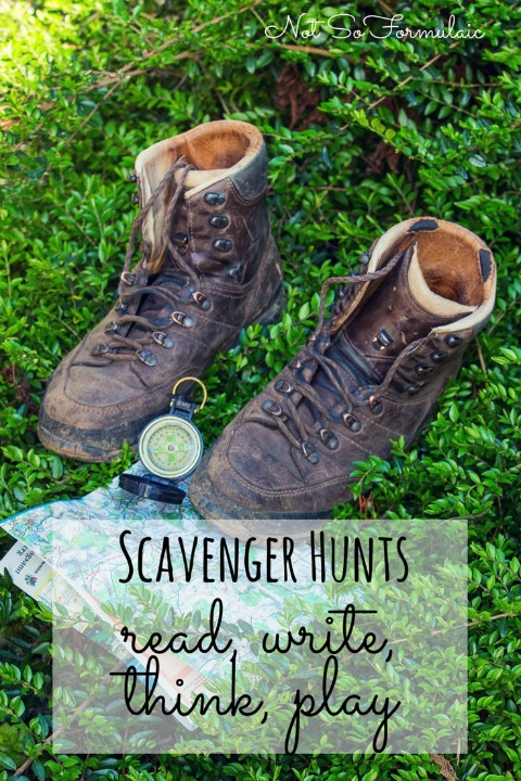 Scavenger hunts encourage your children to read, write, think and play