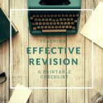 Teaching effective revision: a free printable checklist