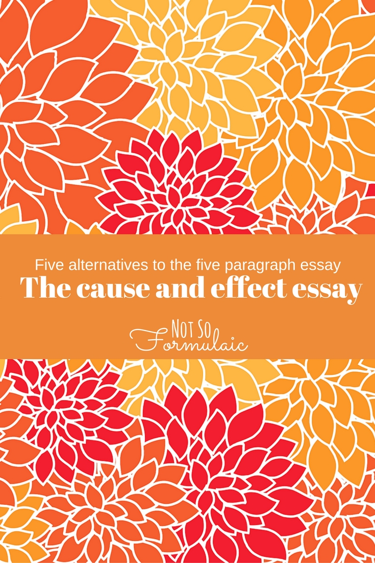 five alternatives to the five paragraph essay writing the cause the cause and effect essay another alternative to the five paragraph essay