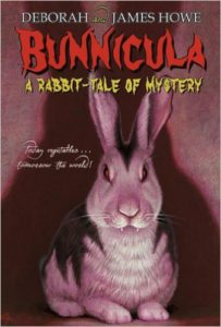 Something's afoot in Harold and Chester's home, and the dog and cat duo are determined to figure it out. It's a rollicking whodunit complete with vampire bunnies and savaged produce - a fun, absorbing read. Bunnicula by James Howe
