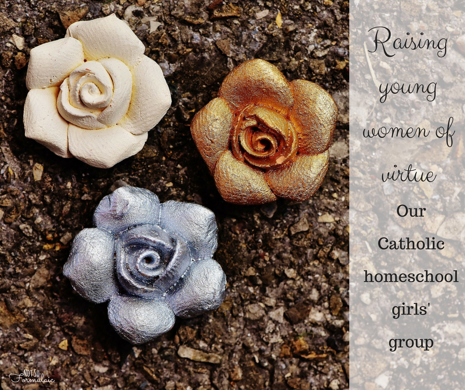 Raising young women of virtue - a Catholic homeschool girls' group