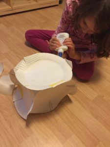 B working on her house