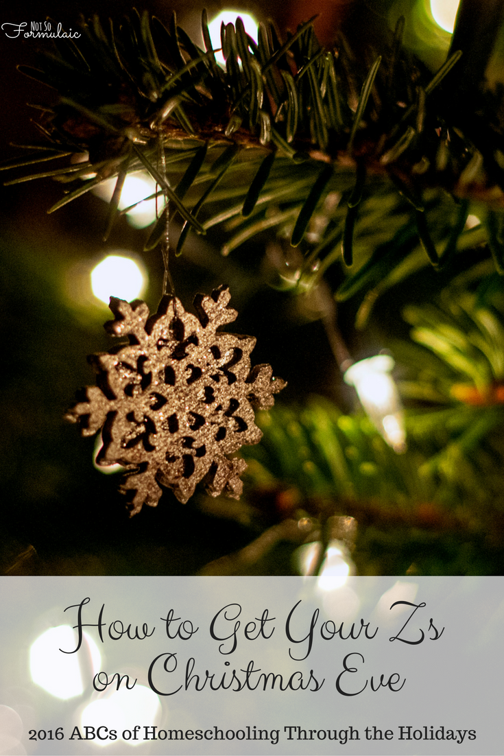 Get Your Zs on Christmas Eve - how to preserve your rest (and your sanity) with kids