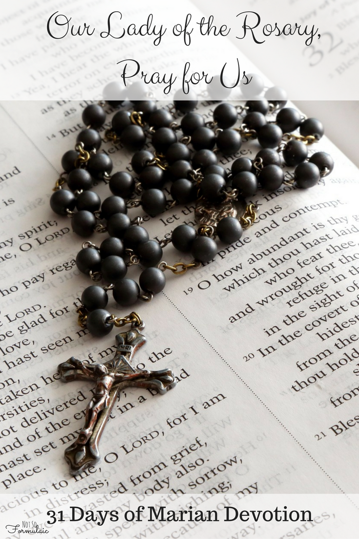 Our Lady of the Rosary, Pray for us. Part of the series on 31 Days of Marian Devotion.
