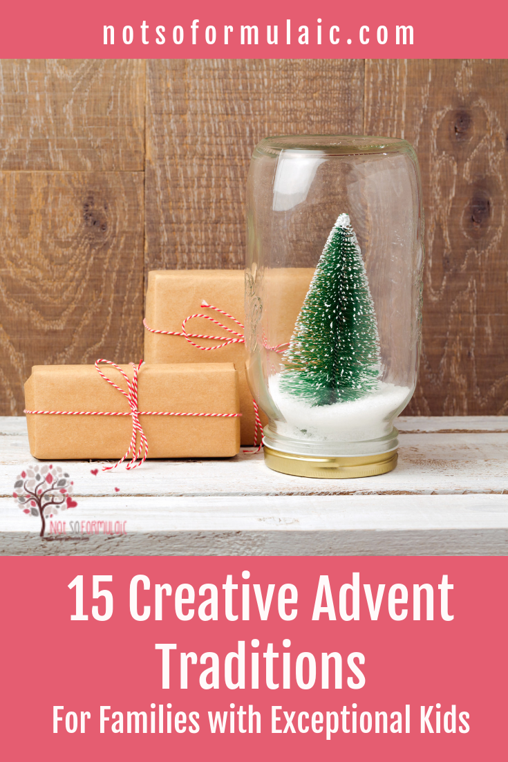 With so many added events and celebrations, a family's Advent routine can be anything but.  Renew your Advent focus with 15 creative family traditions designed to keep your eyes fixed on Bethlehem, not a screen.