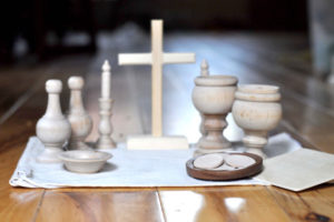 The perfect gift to encourage knowledge of vocations: a DIY wooden mass kit from Almond Rod Toys