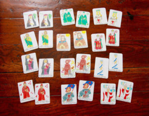 "Play a game of Saint memory or a round of ""Go Saint"" with these handmade Saint Matching Cards."