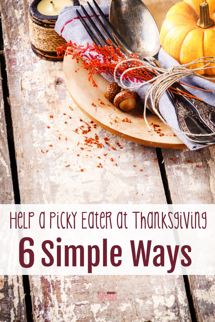 When you have a picky eater, a problem feeder, or a child with ARFID, Thanksgiving gatherings can be nerve-wracking. Your family can enjoy the Thanksgiving meal together, though, with these 6 simple ways to help your selective eater.