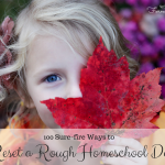 100 Sure-fire Ways to Reset a Rough Homeschooling Day