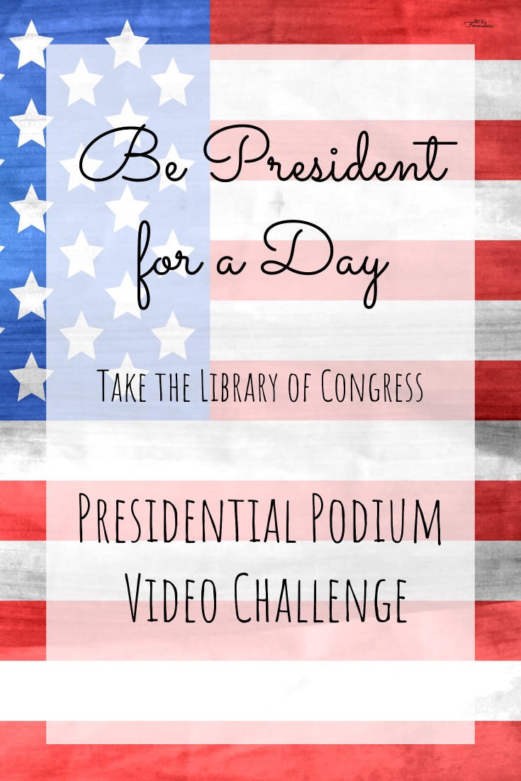 Take the Library of Congress Center for Young Readers Presidential Podium Video Challenge. Prepare your own presidential remarks, record them, and submit for a chance to be featured in LOC President's Day celebrations.