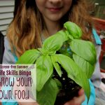 Screen-free Summer Life Skills Bingo: Grow Your Own Food