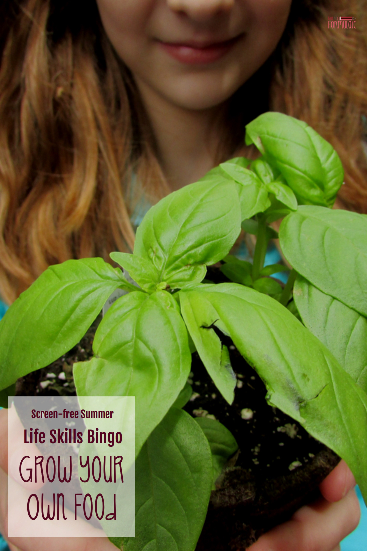 Want a screen-free summer? Join our life skills bingo series and learn to grow your own food!