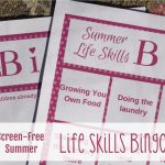Screen-free Summer Life Skills Bingo: How to Plan A Menu With Kids