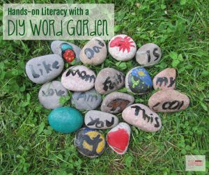 Hands-on Literacy at home with A DIY Word Garden