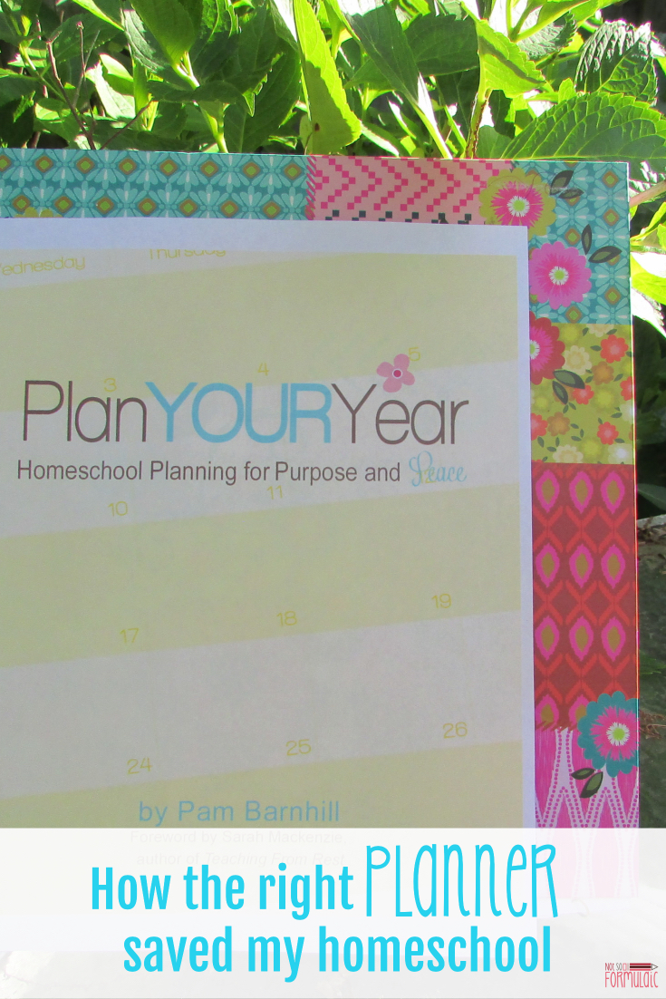 My homeschool was on life support, but I saved it with a homeschool planner. Pam Barnhill's Plan Your Year doesn't just build you a schedule. It takes you to heart and soul of your homeschool leads you to a place of rest.