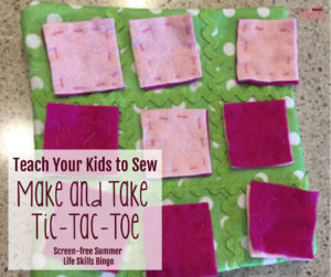 Teach Your Kids to Sew with Make and Take Sewing (Screen-free Summer Life Skills Bingo)