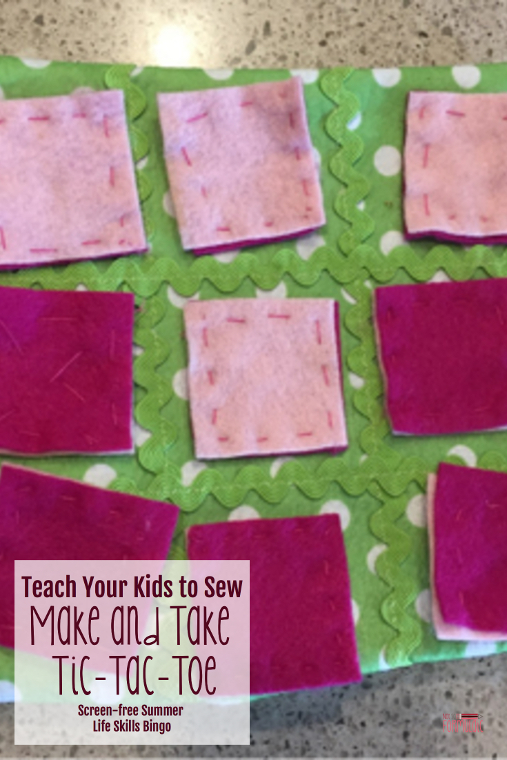 Want to teach your kids to sew? Here's a great make and take project from my friend Kerry at Catholic Homeschool Moms. It's an awesome addition to our Screen-free Summer Life Skills Bingo series!