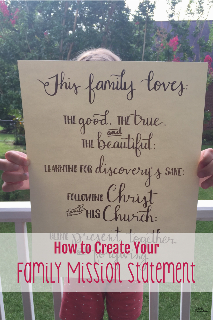 Create your family mission statement - a step by step guide.