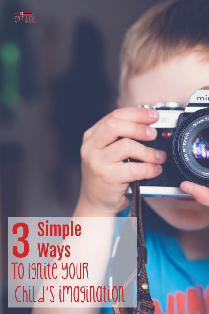 Imagination matters, even in the elementary age child. Here are 3 simple ways to ignite the spark and set fire to creative thinking.