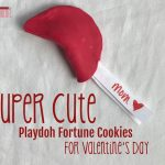 Super Cute Valentine Craft – Playdoh Fortune Cookies