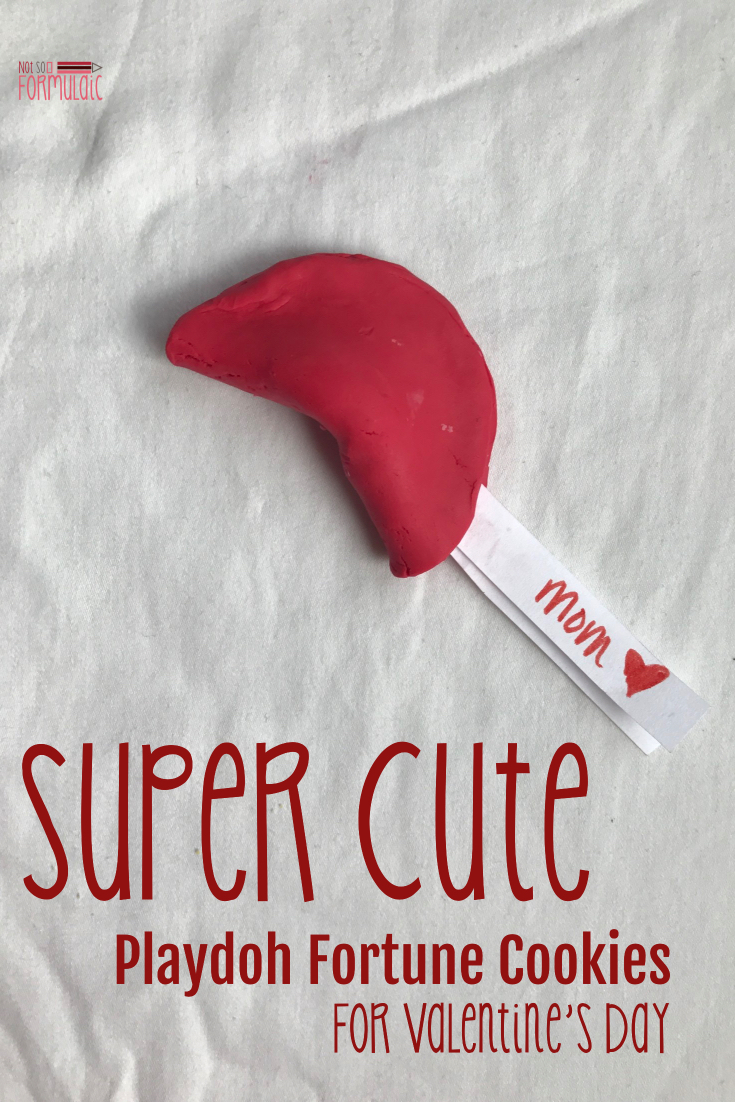 Looking for a fun, super cute craft activity for Valentine's Day? Try these Playdoh Fortune Cookies and let your friends know they are worth a fortune!