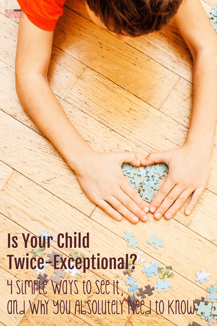 If your seven-year-old's mastered algebra but can't pass a math test at school, chances are, you've been blessed with a Twice-Exceptional. Here are four ways to tell if you're kiddo's a 2E, and what to do once you figure it out.