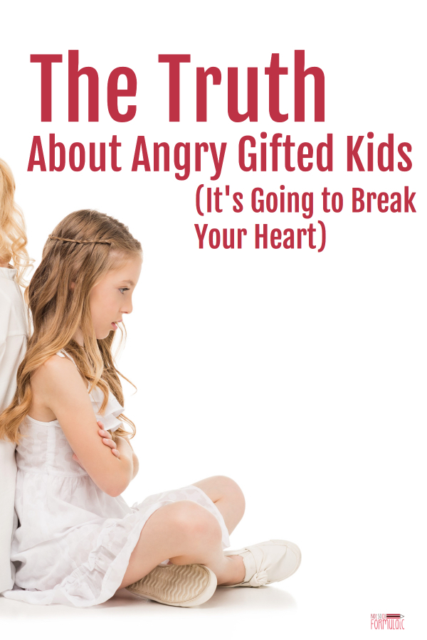 Angry children don't rage for anger's sake. Rather, their behavior is a symptom of a deeper issue. Here's a close look at the anatomy of an angry gifted child, plus suggestions for helping her cope.