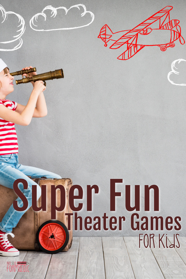 #screenfreeweek #theatergames #theaterforkids It's Screen-Free Week 2018! Celebrate with some super fun theater games for kids, courtesy of my friend Kirby - an actor, dancer, and homeschooling mom of three.