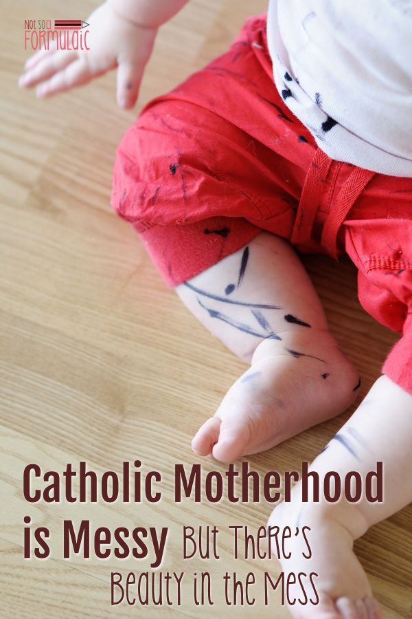Motherhood is messy, and I'm not just talking about the laundry and the toys. Fortunately, our Catholic faith helps us find the beauty in our chaos. Anni Harry shares how she discovers beauty in the motherhood mess.