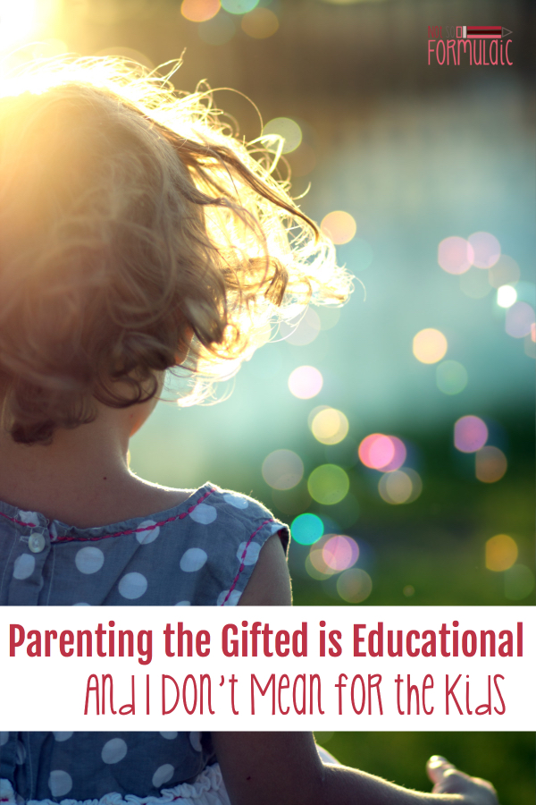 Nobody tells you what you're in for when you're raising a gifted or 2E child. You pretty much end up educating yourself. #parenting #giftedparenting #2e #2Eparenting