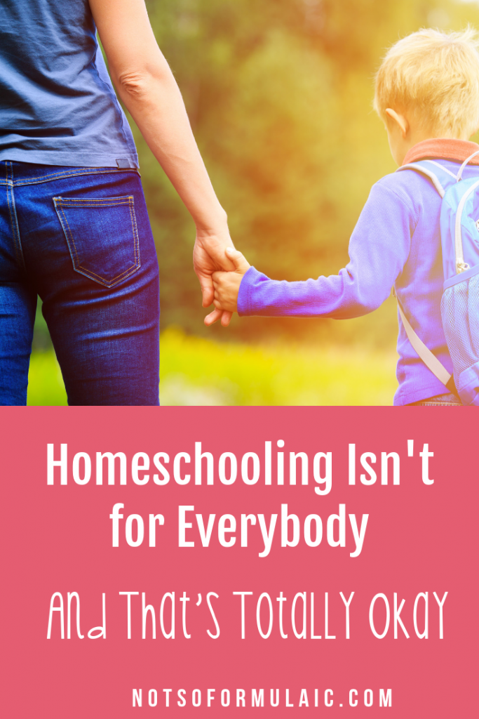 No, homeschooling isn't right for everyone. And the truth is, that's totally okay. Each one of us is called to a different, unique vocation. My friend and colleague Ticia offers an honest look at when homeschooling might not be the right choice.