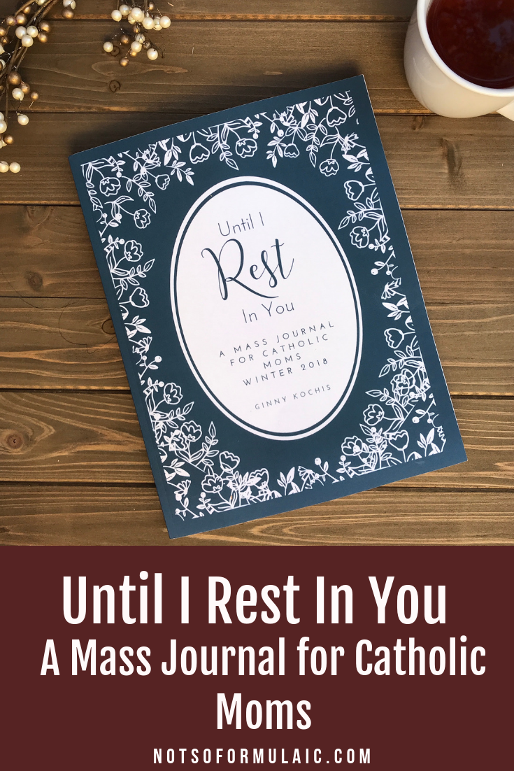 Until I Rest in You offers the full text of each Sunday's readings, plus weekly feast days and encouraging quotes. Suggestions for prayer, personal reflection, and meditation accompany the readings, followed by simple ideas for liturgical living. It is the only mass journal for Catholic moms in the trenches of motherhood.