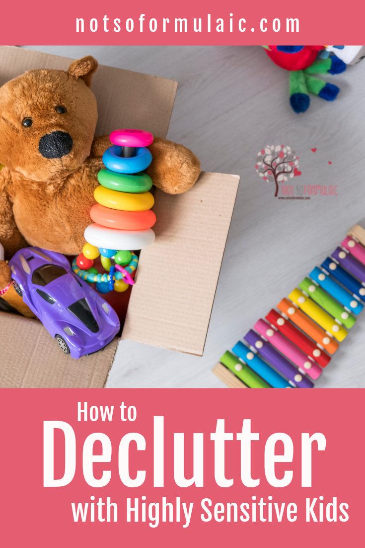 Are you trying to declutter, but you've got highly sensitive kids? Here's the lowdown on KonMari, the popular decluttering technique, and how to adapt it for change-averse kids.#konmari #konmarikids #catholickids #highlysensitivekids