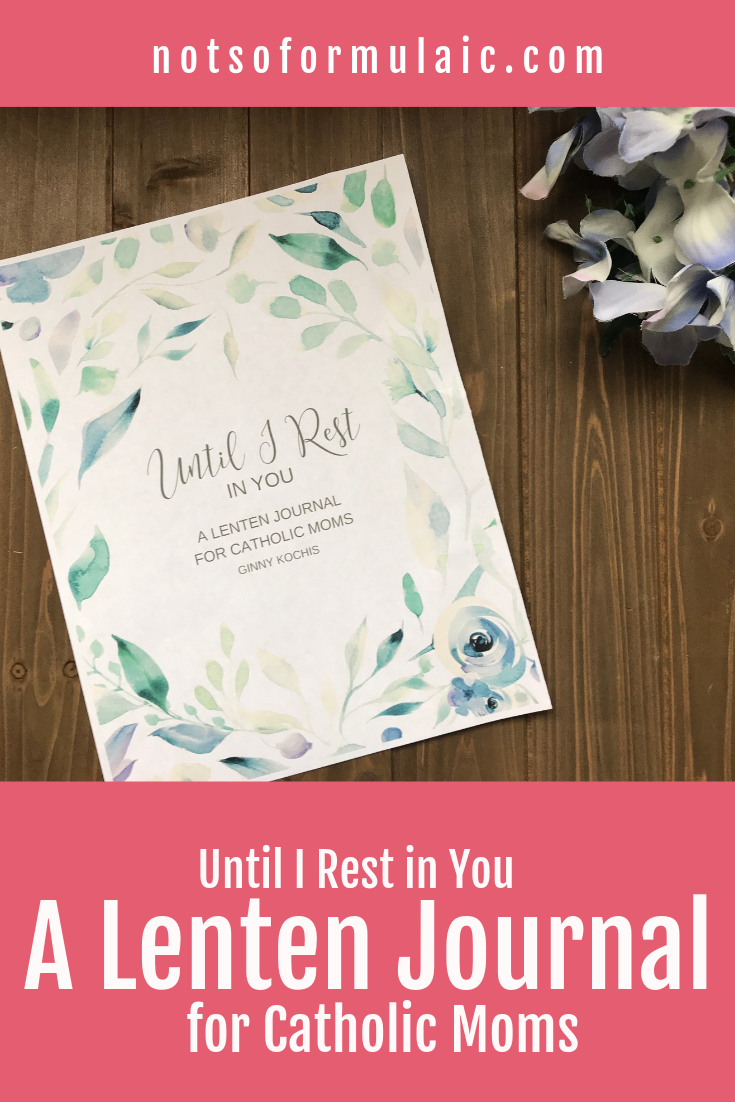 As the only Lenten journal designed to unite the journey of motherhood with Christ's suffering and compliment the nature of family life, Until I Rest in You is simple, flexible, and focused on intentional Lenten observance