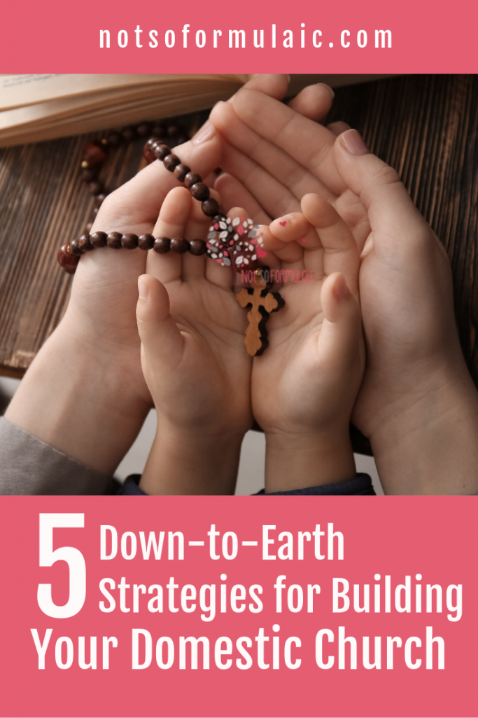 It is important to equip our children with a strong faith as they grow. We can do that at home through liturgical living, by creating a domestic church.