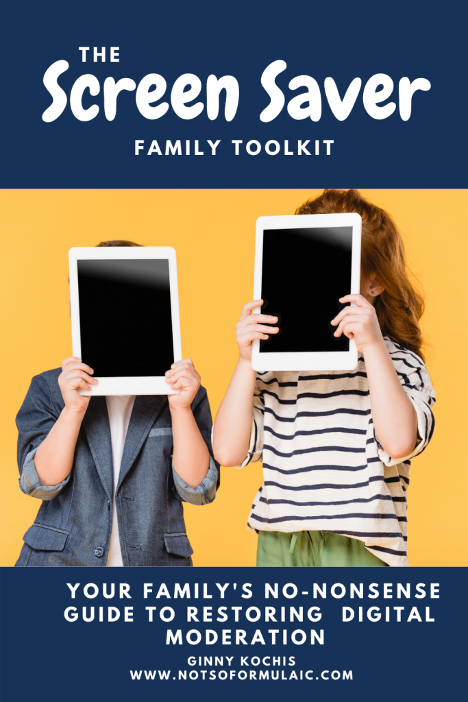 Need a screen time reset but don't want to cut screens out? Check out Screen Saver, your no-nonsense guide to family digital moderation. You'll rebuild your family's screen time mindset from the ground up.